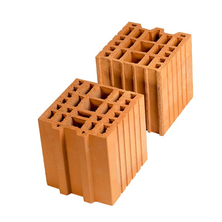 Керамический блок (камень) Porotherm 20-1/2 (PTH 20-1/2), поризованный (доборный элемент)