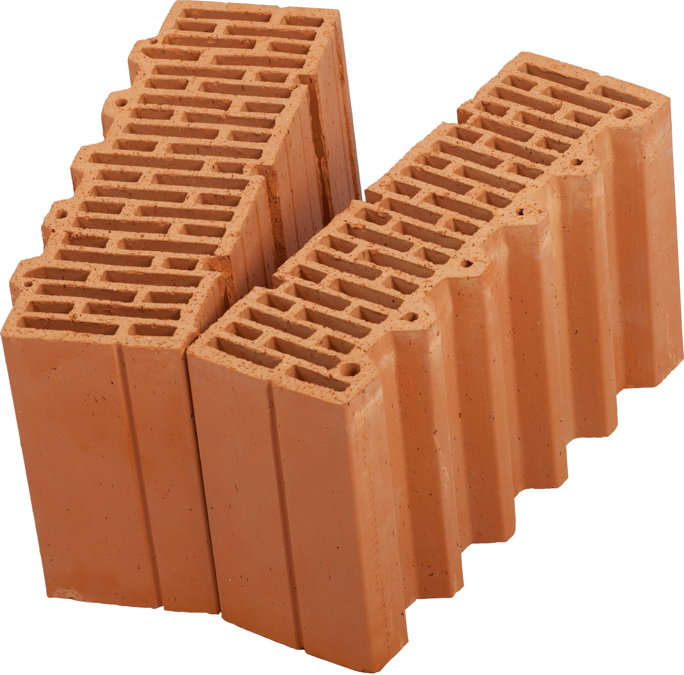 Керамический блок (камень) Porotherm 38-1/2 (PTH 38-1/2), поризованный (доборный элемент)