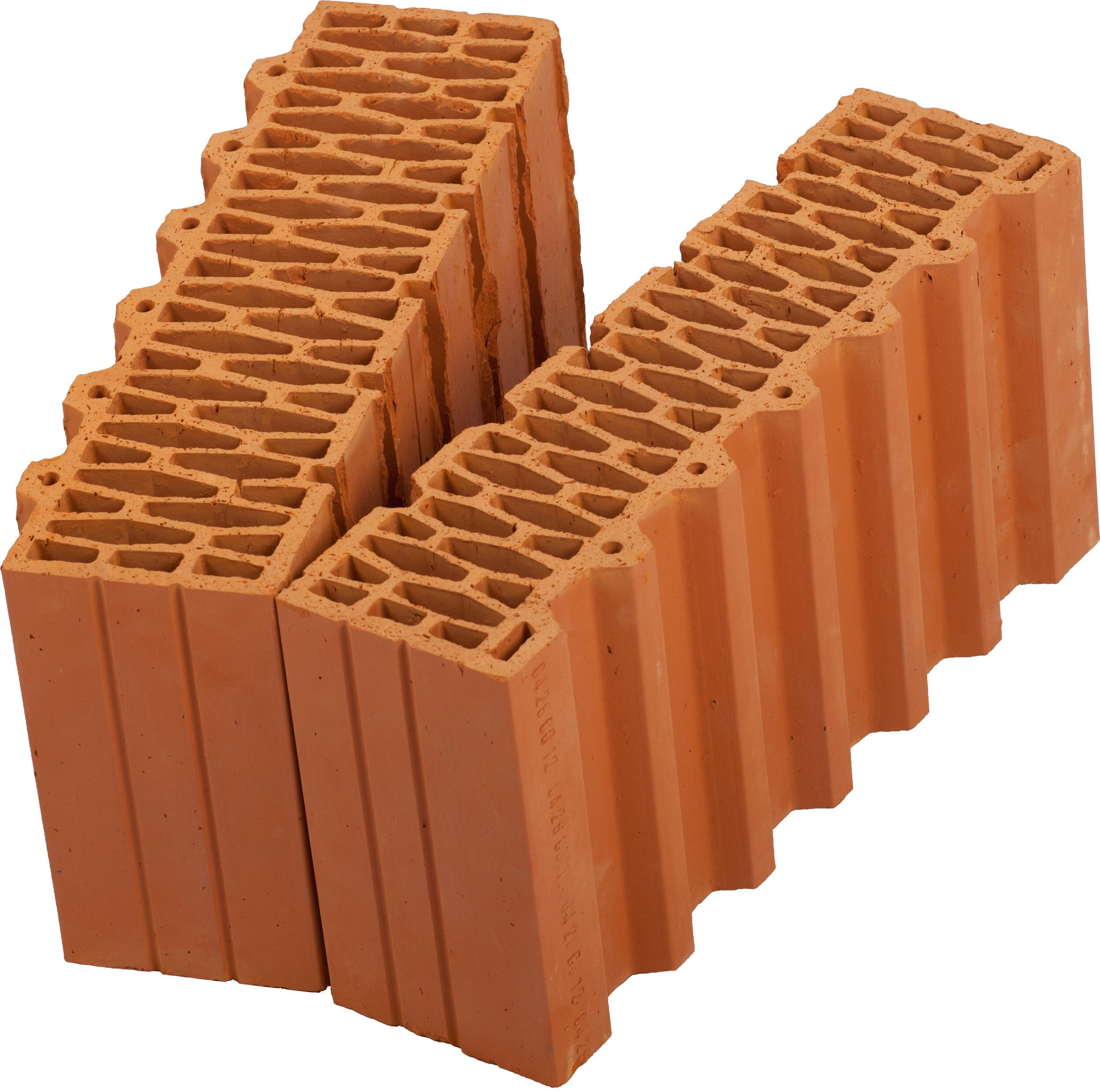 Керамический блок (камень) Porotherm 44-1/2 (PTH 44-1/2), поризованный (доборный элемент)